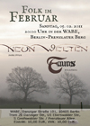 Flyer Folk im Februar